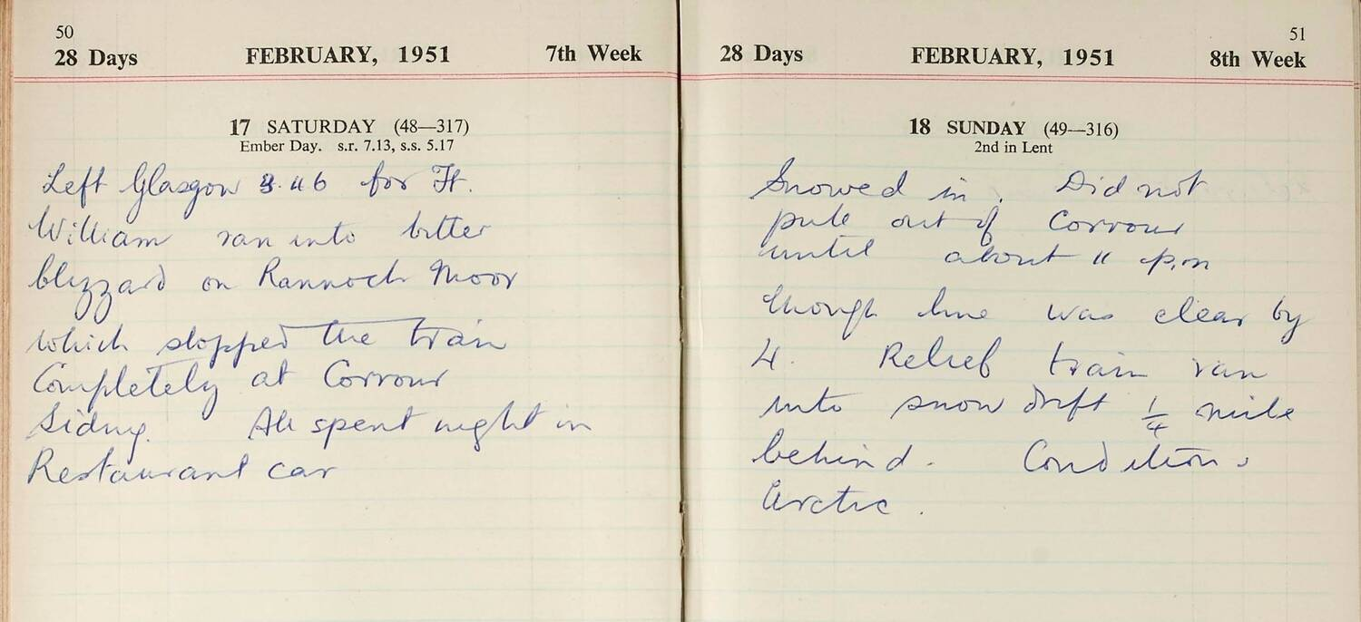 An extract from John Lorne Campbell's Canna Farm diary, February 1951