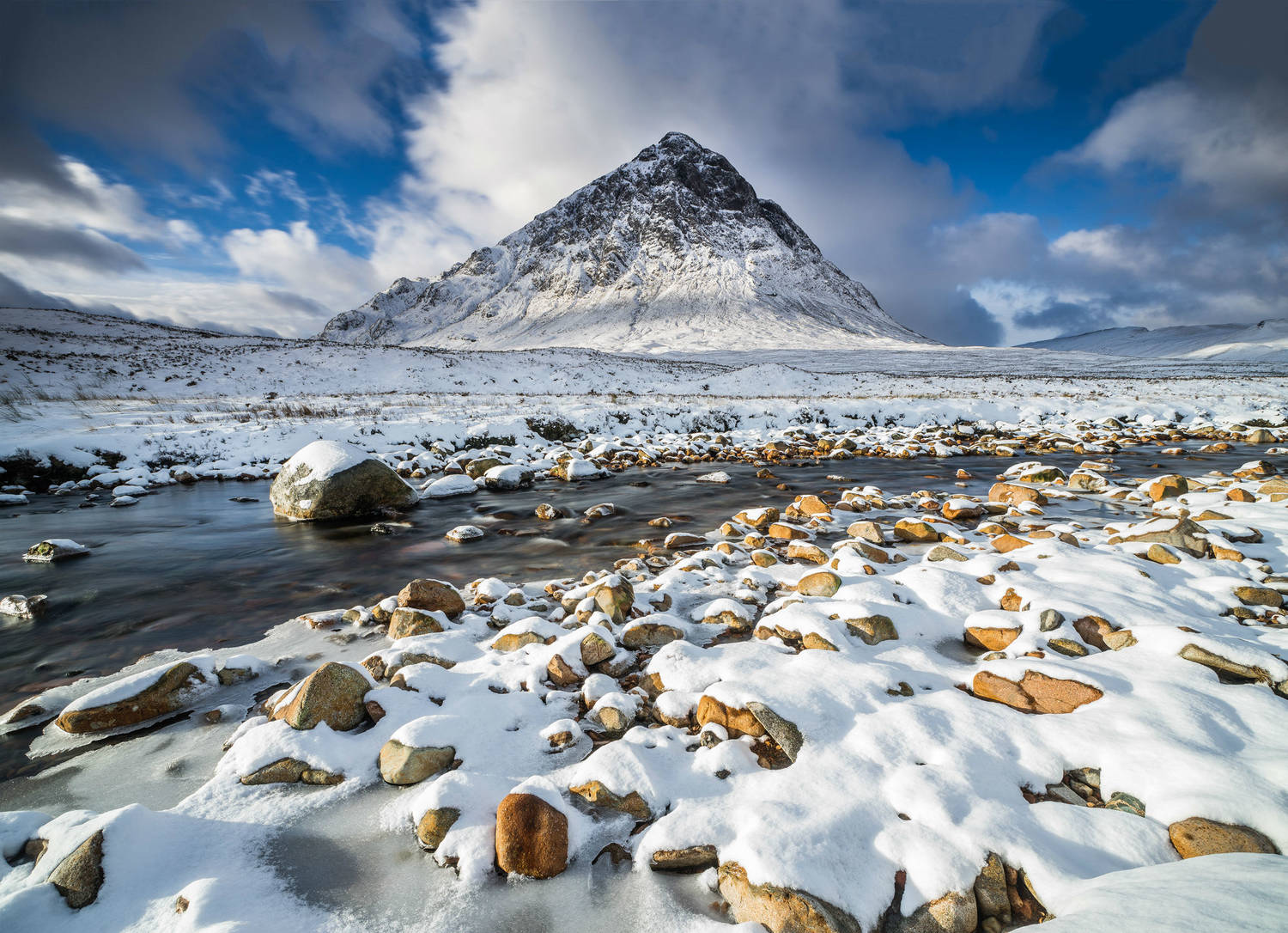 Glencoe in winter: one of our wonderful Highland landscapes to explore