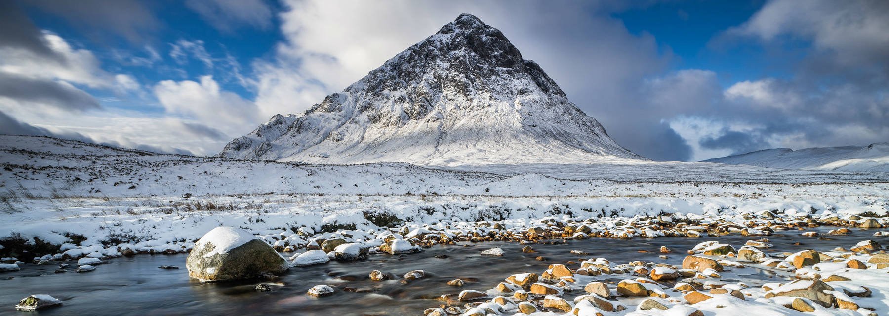 Buachaille Etive Mor in snow.