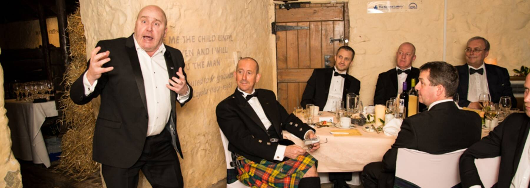 A group of people celebrating Burns Night