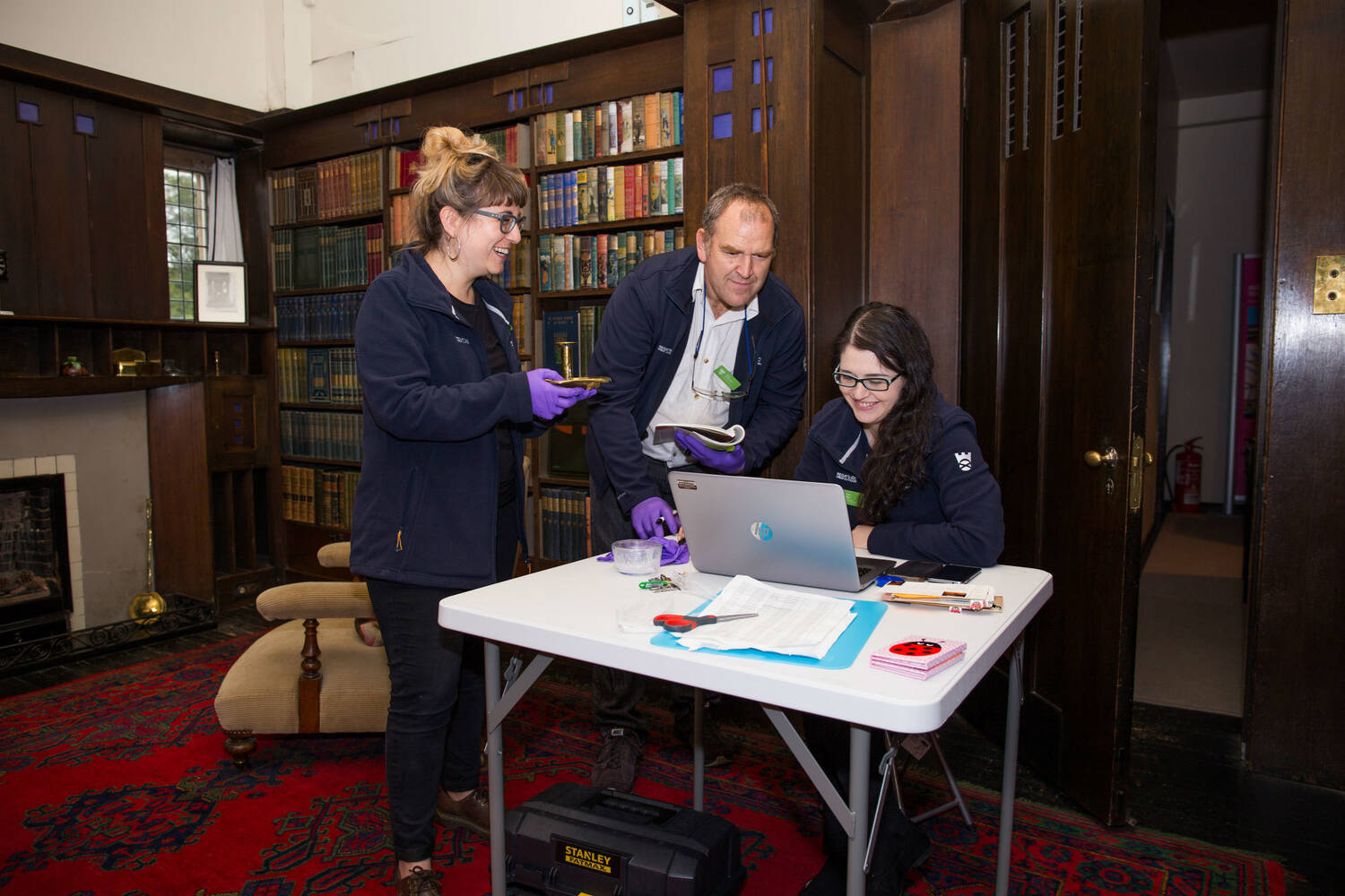 Project Reveal Team West at work in the Library at Hill House