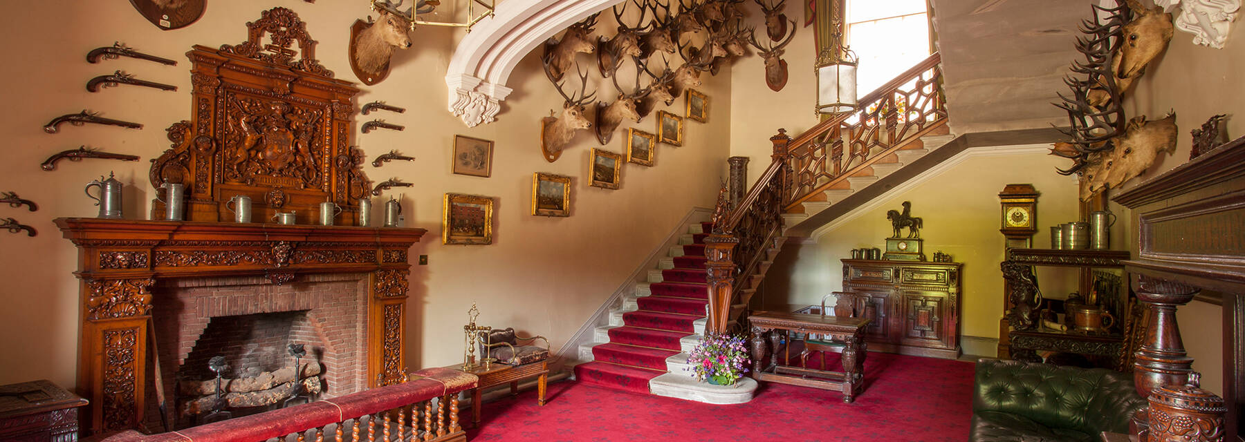 The main hall inside Brodick Castle