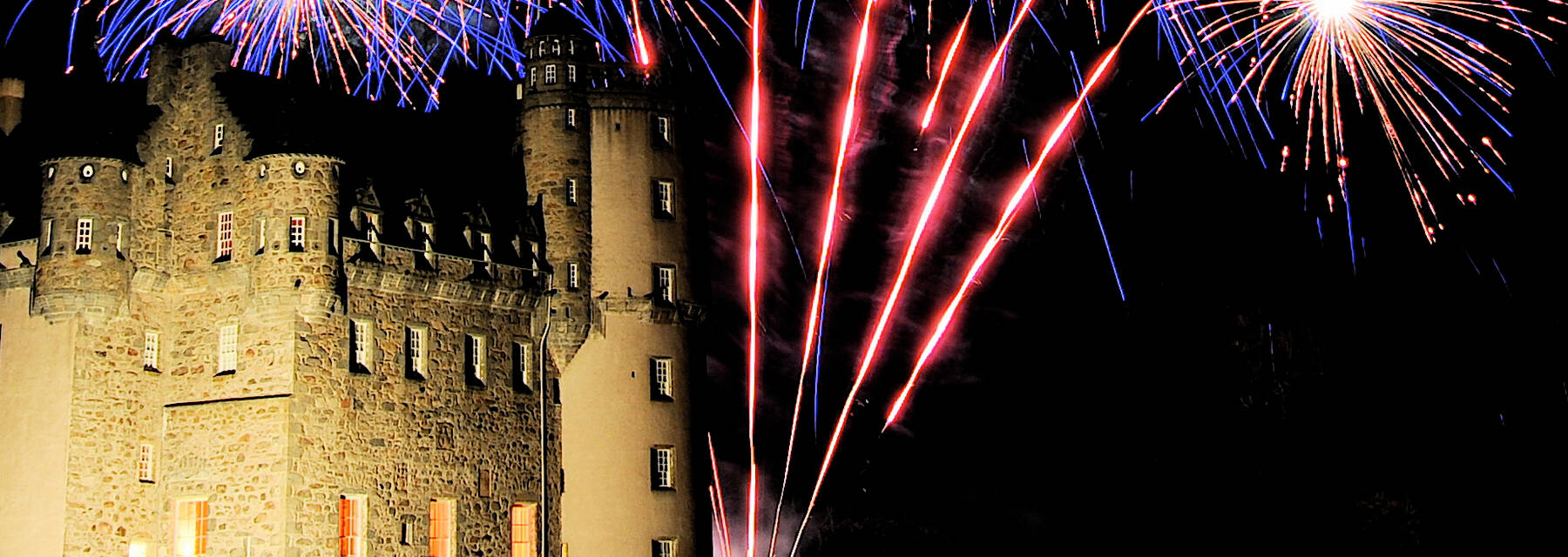 Fireworks at Castle Fraser
