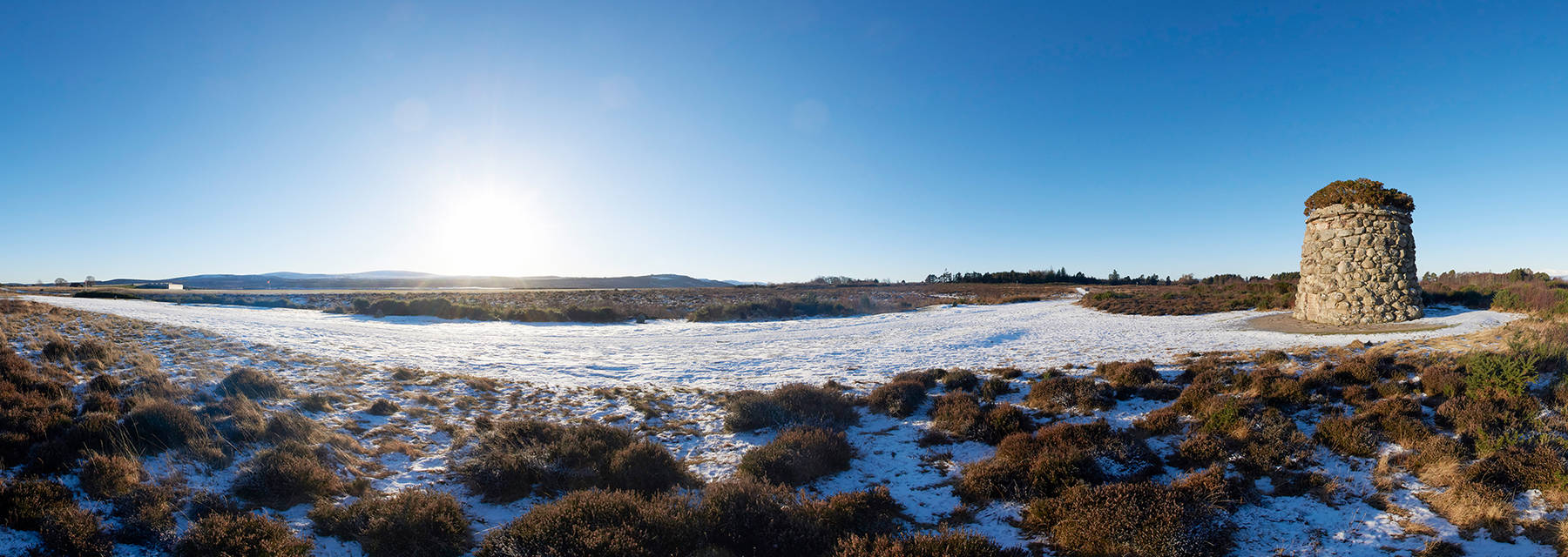Culloden Battlefield in the snow