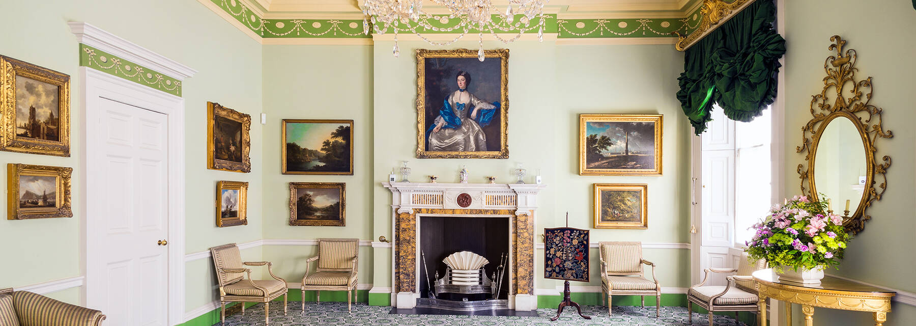The drawing room of the Georgian House