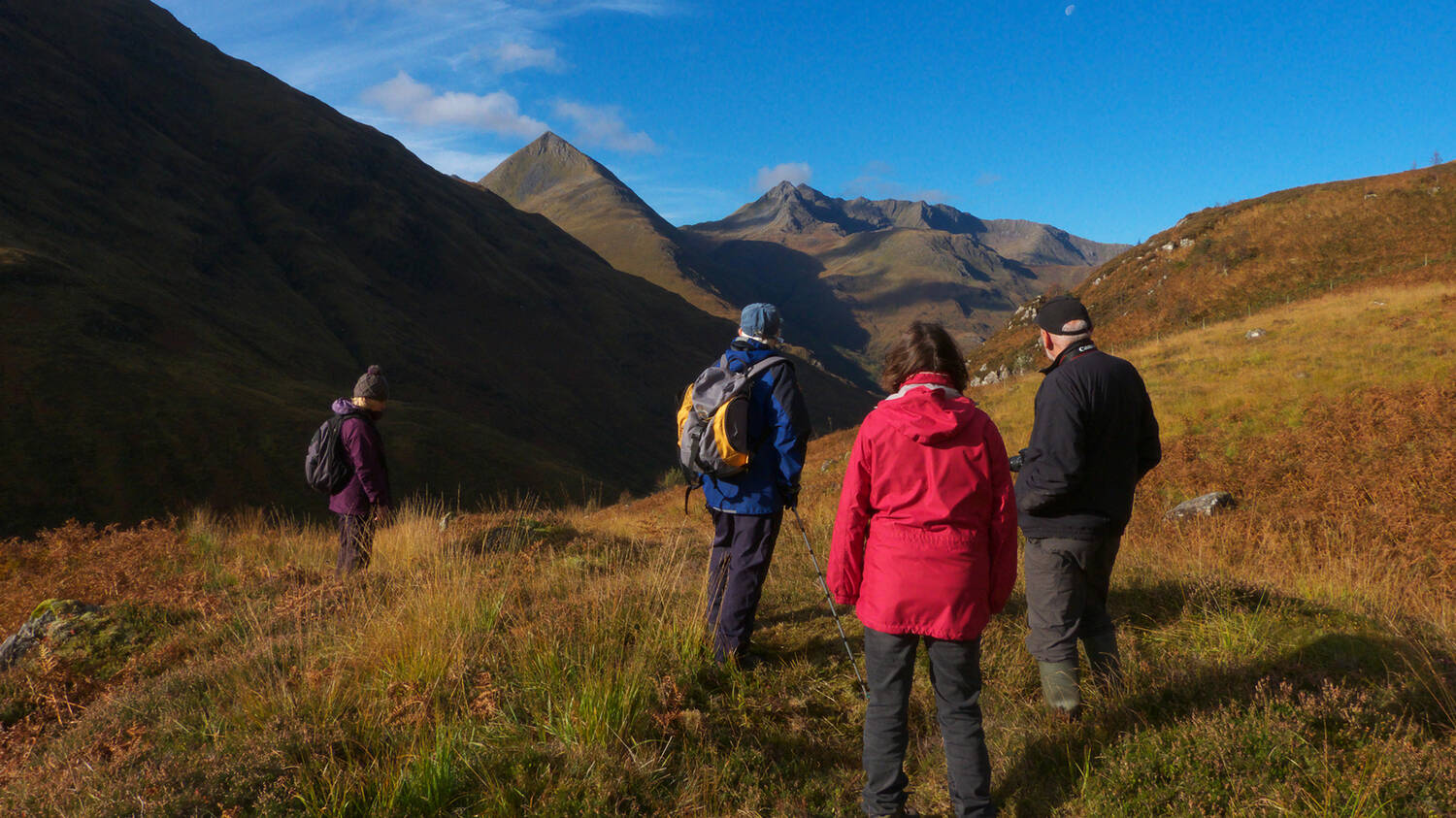 Walkers at Glenshiel