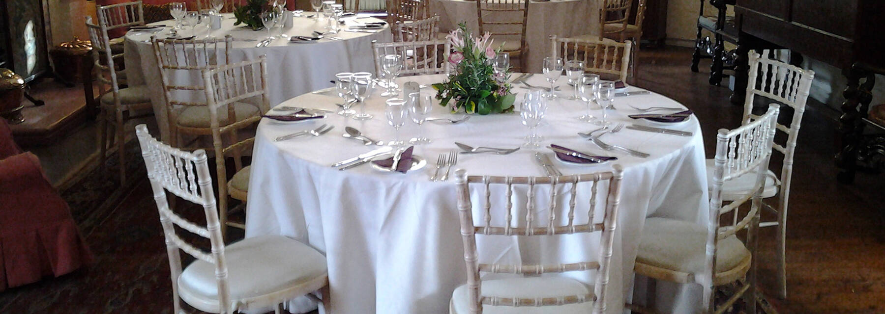 Kellie Castle set up for a formal dinner