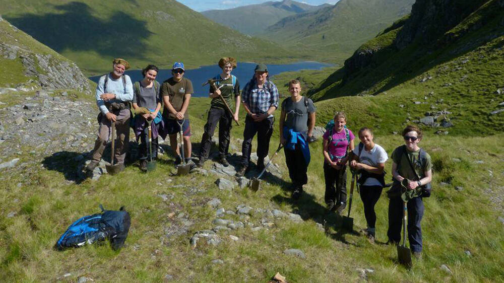 The 2017 Kintail Trailblazers, with group leaders Johnny Wells and David Hector
