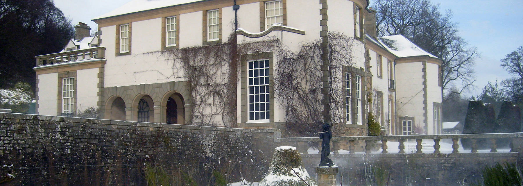 Hill of Tarvit Mansion in the snow