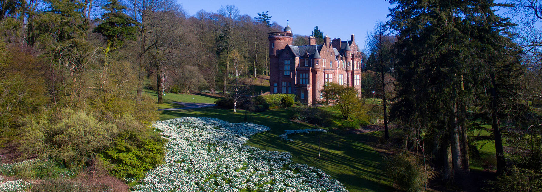 Threave House and garden in spring