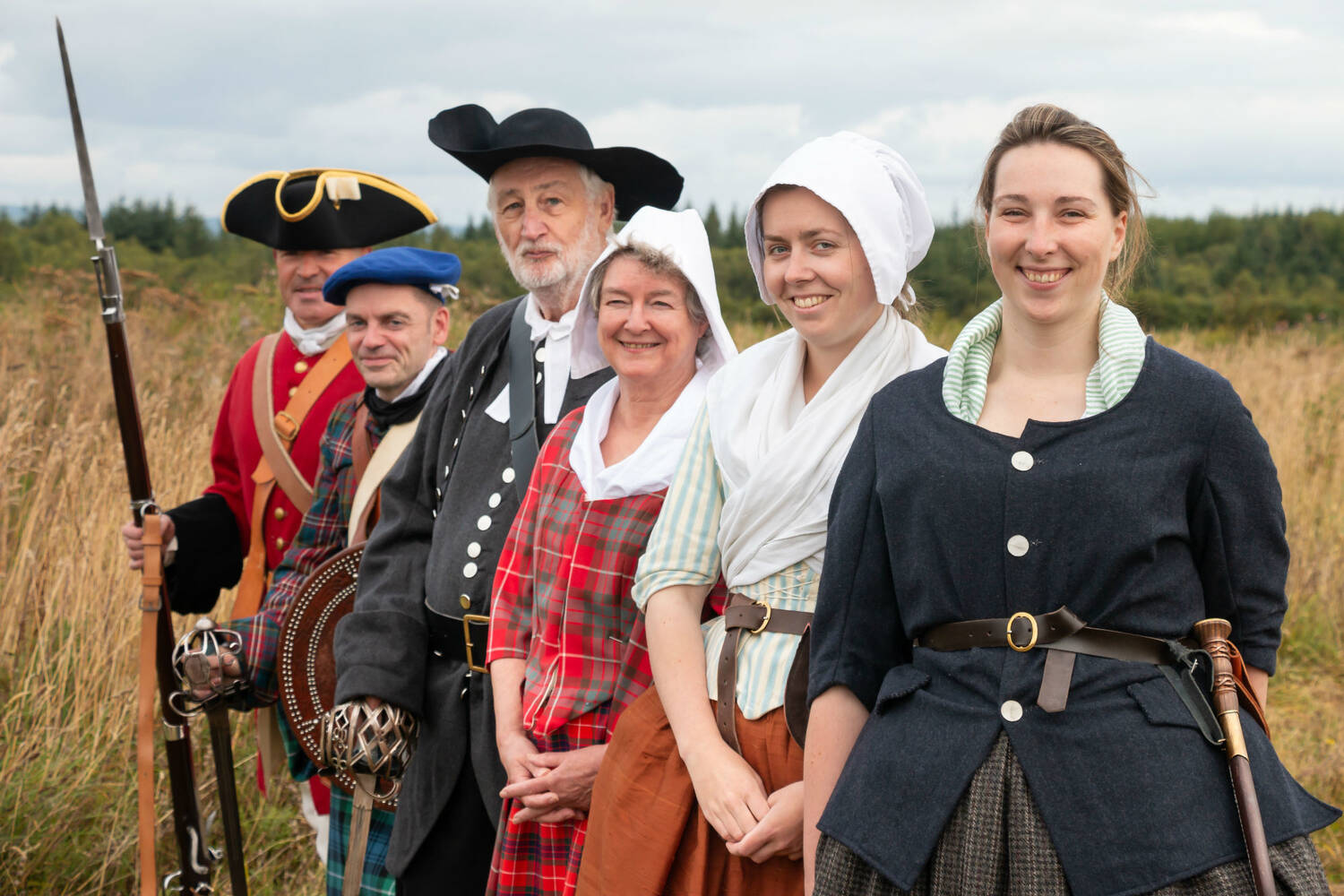 Costumed guides at Culloden Battlefield