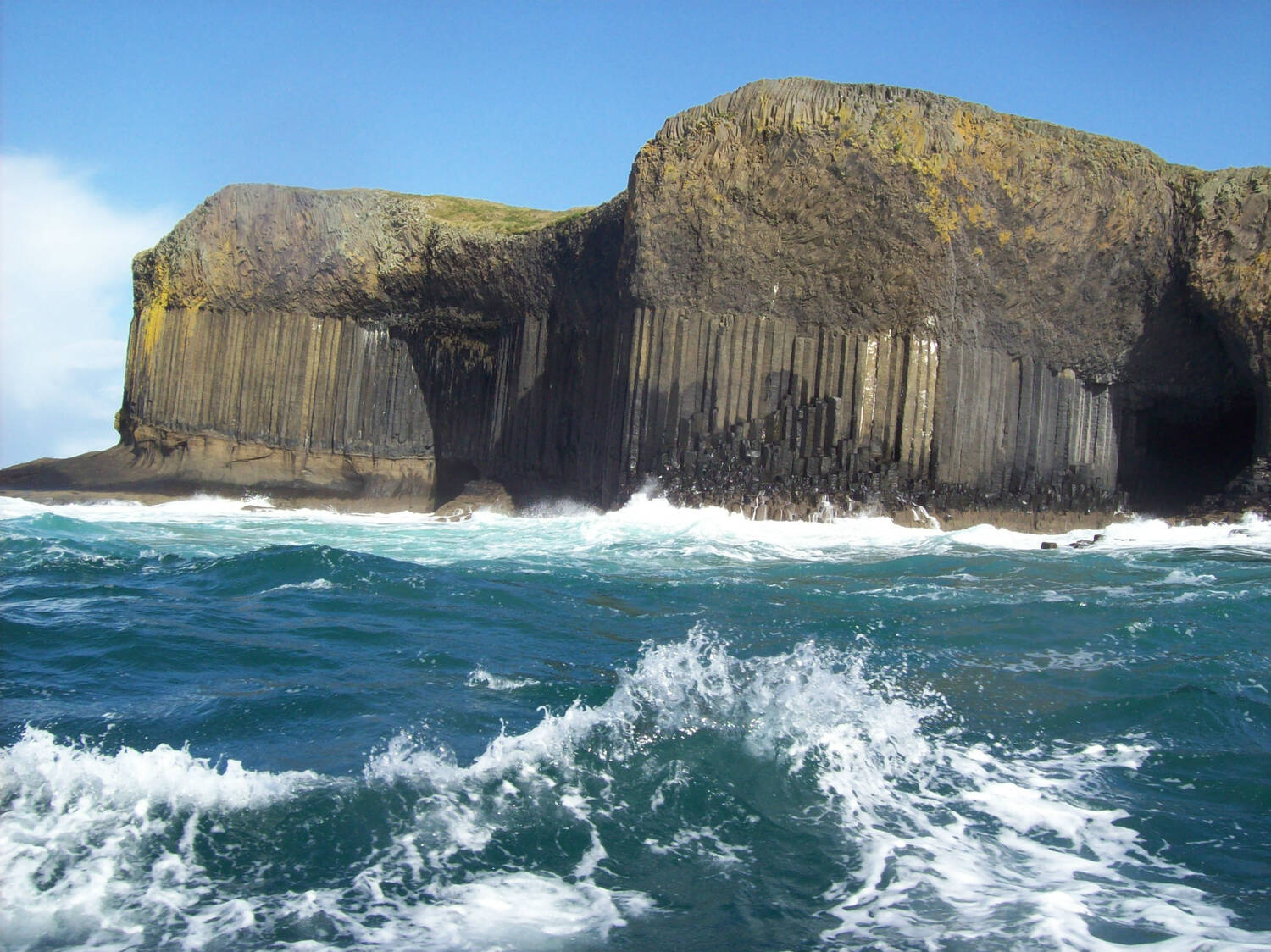 Choppy seas around the island of Staffa