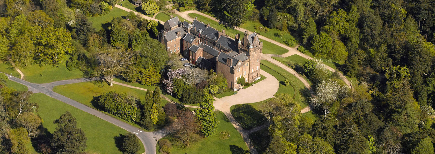 Aerial view of Brodick Castle