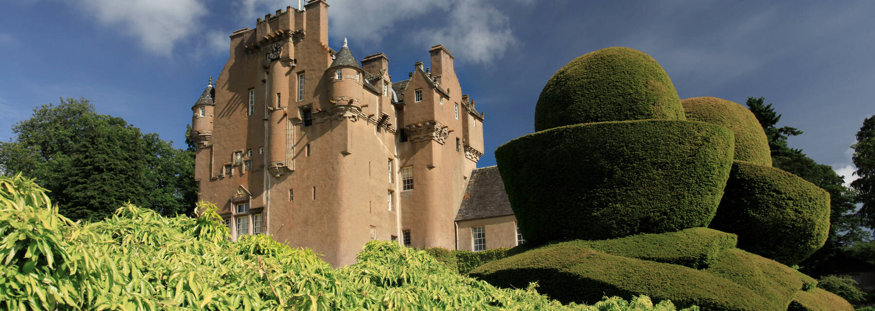 Crathes Castle in the summer