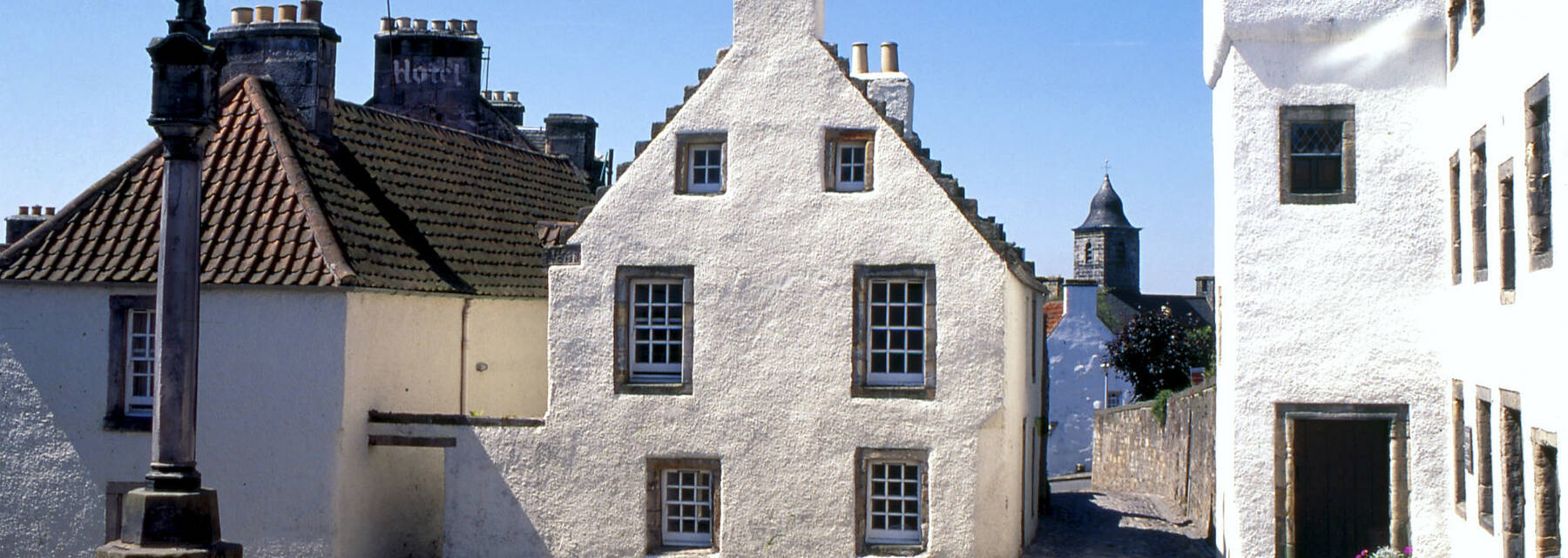 The mercat cross in the Royal Burgh of Culross