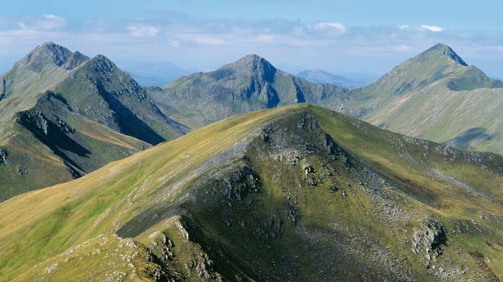 Kintail's Five Sisters are a challenge for walkers