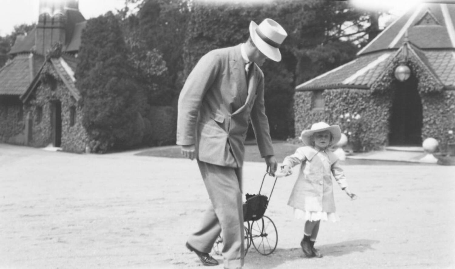 James Graham, 6th Duke of Montrose, and his eldest daughter Mary