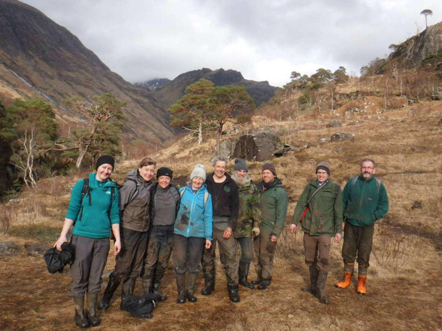 Working holiday participants in Glen Nevis