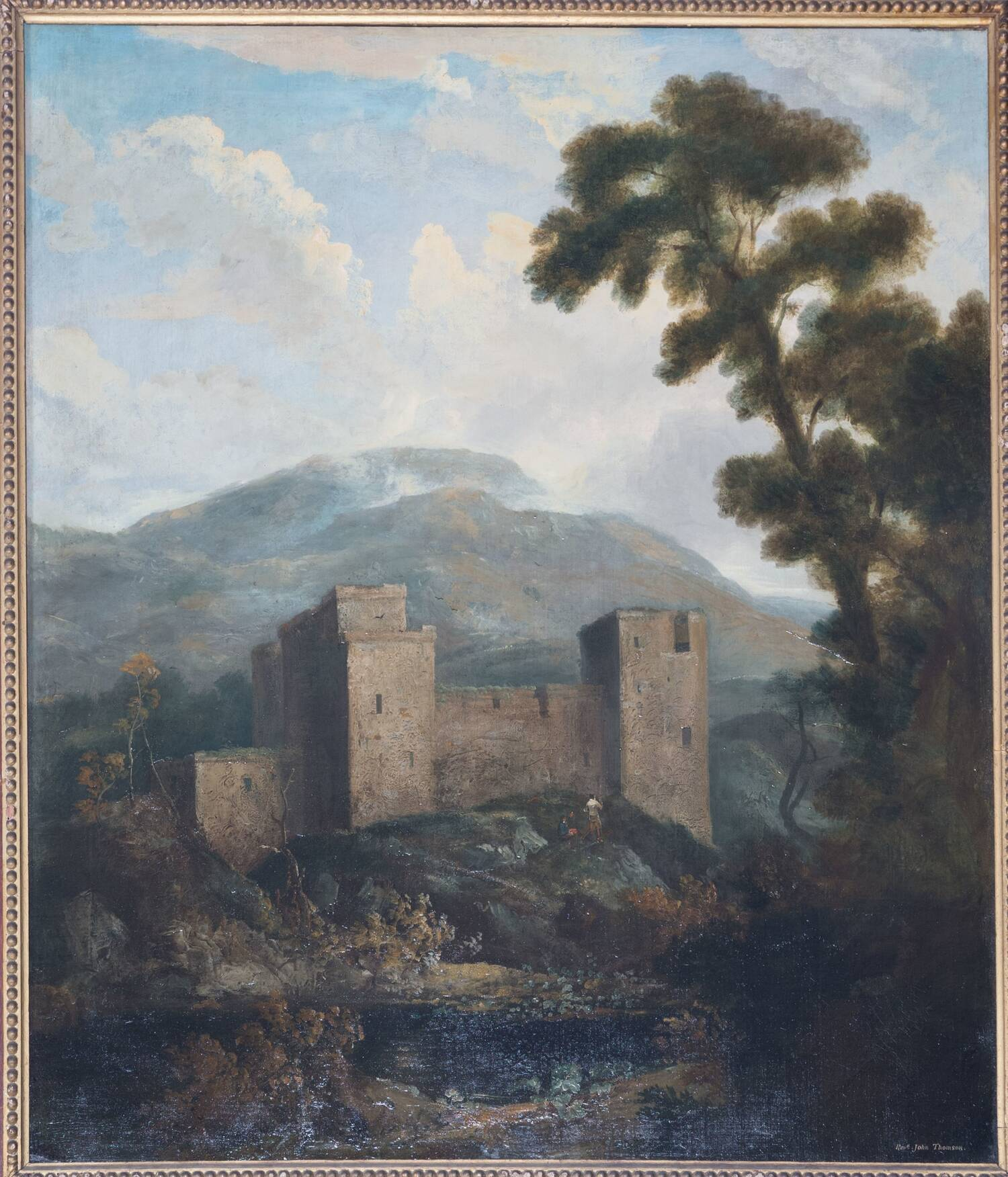 Hailes Castle (1816) by John Thomson; painted for the library at Newhailes