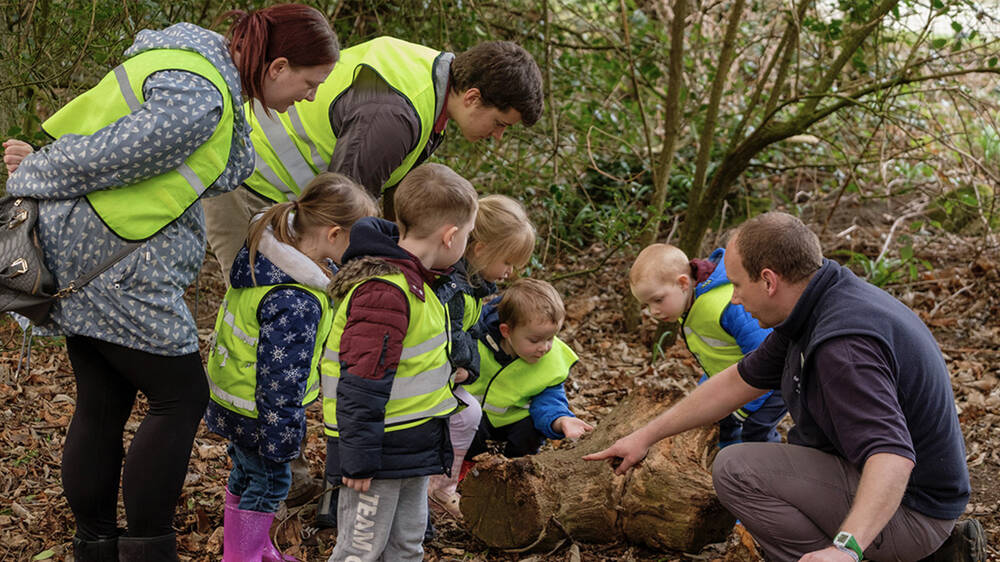 Trust ranger at Newhailes teaching toddlers outdoor skills
