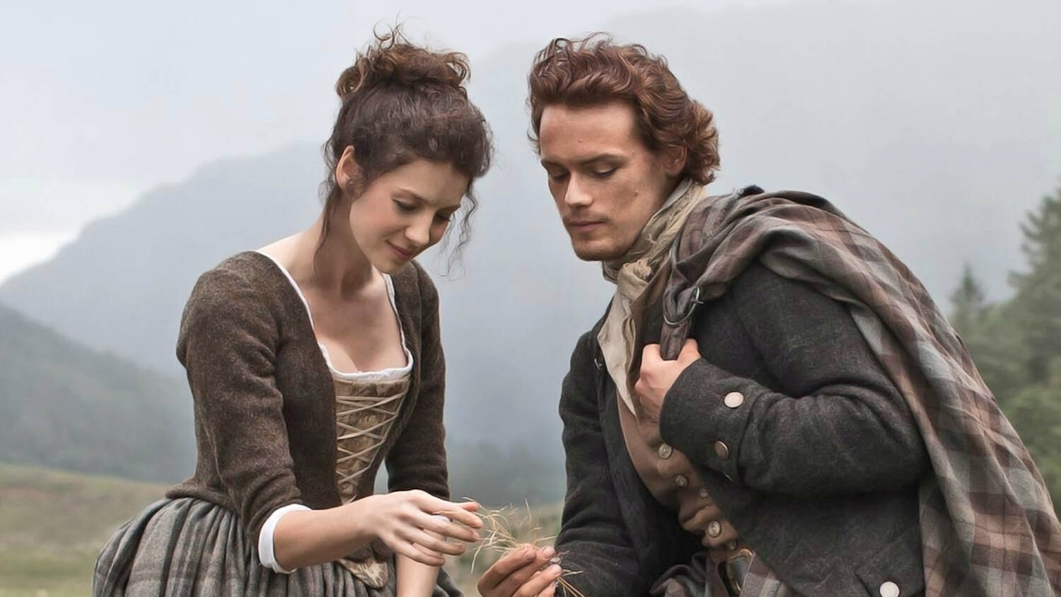 Jamie and Claire from the Outlander series