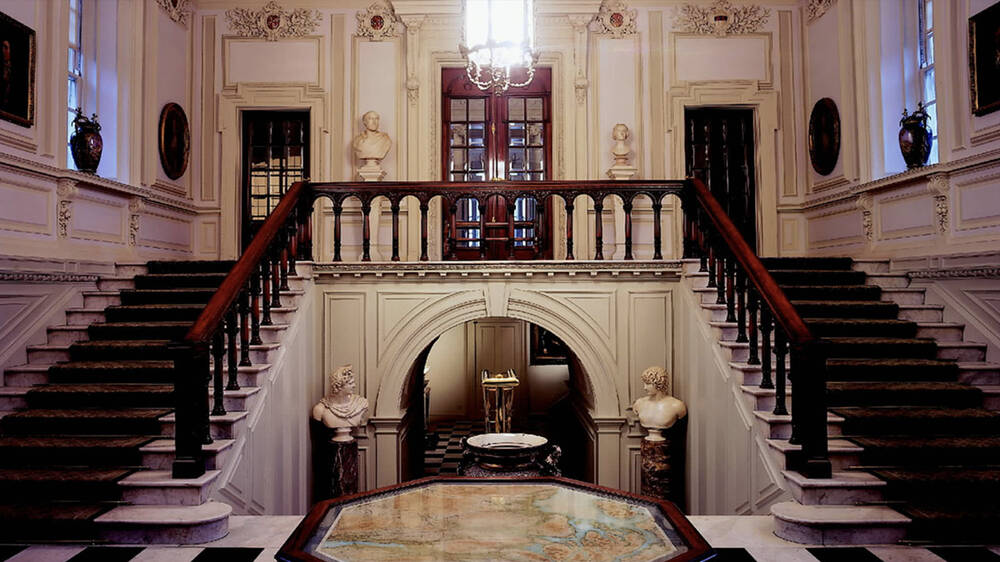 The Edwardian Entrance Hall in Pollok House