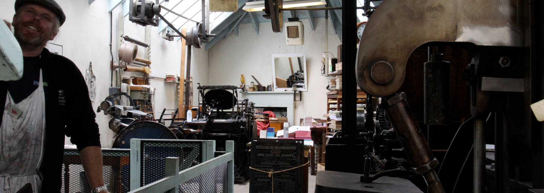 The machine room which houses the printing presses
