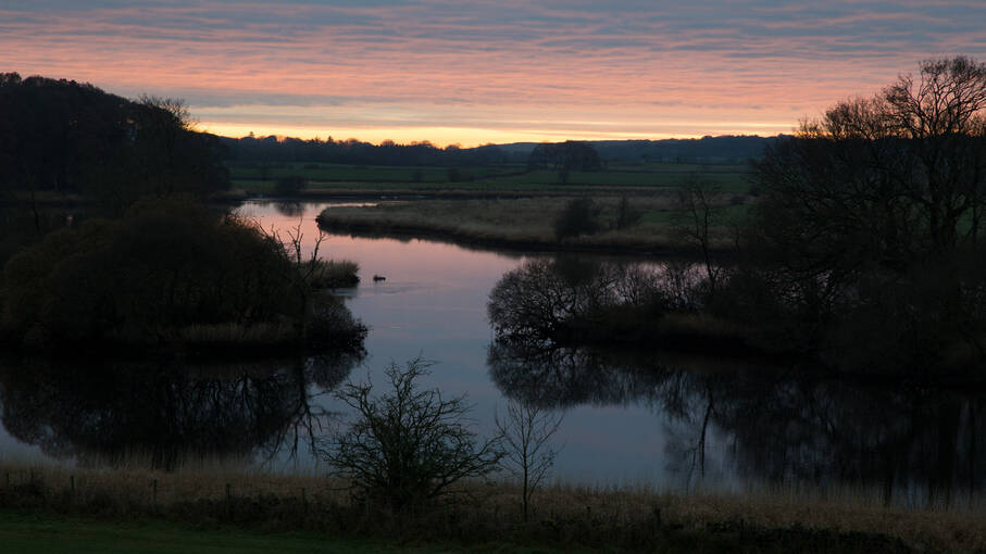 Sunset view over the River Dee