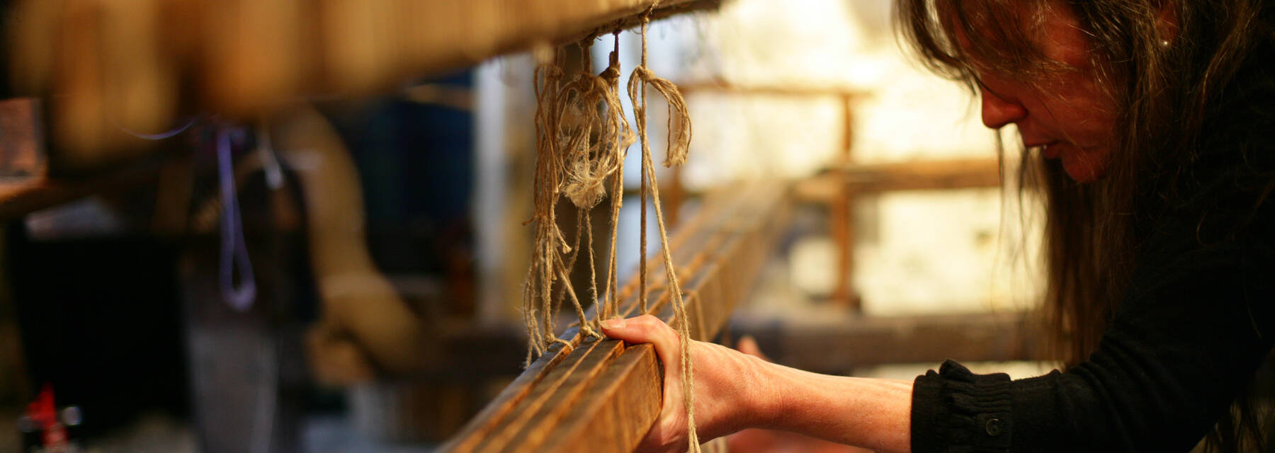 Weaving on the loom