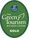 The Green Tourism Business Scheme sign for a Gold award
