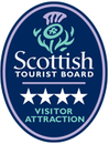 Logo for the Scottish Tourist Board 4 star visitor attraction