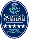 Scottish Tourist Board sign for a 5 star visitor attraction