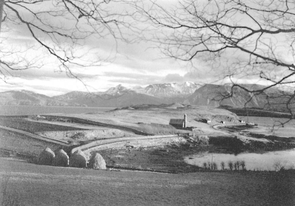 Image of Canna looking to Rum, taken from Canna House Garden in 1938