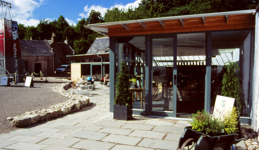Entrance to the Courtyard Cafe at Crathes