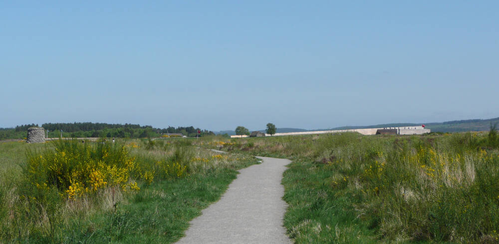 Path across Culloden battlefield