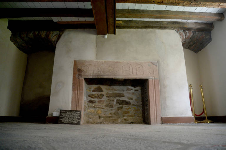 The fireplace in Abertarff House