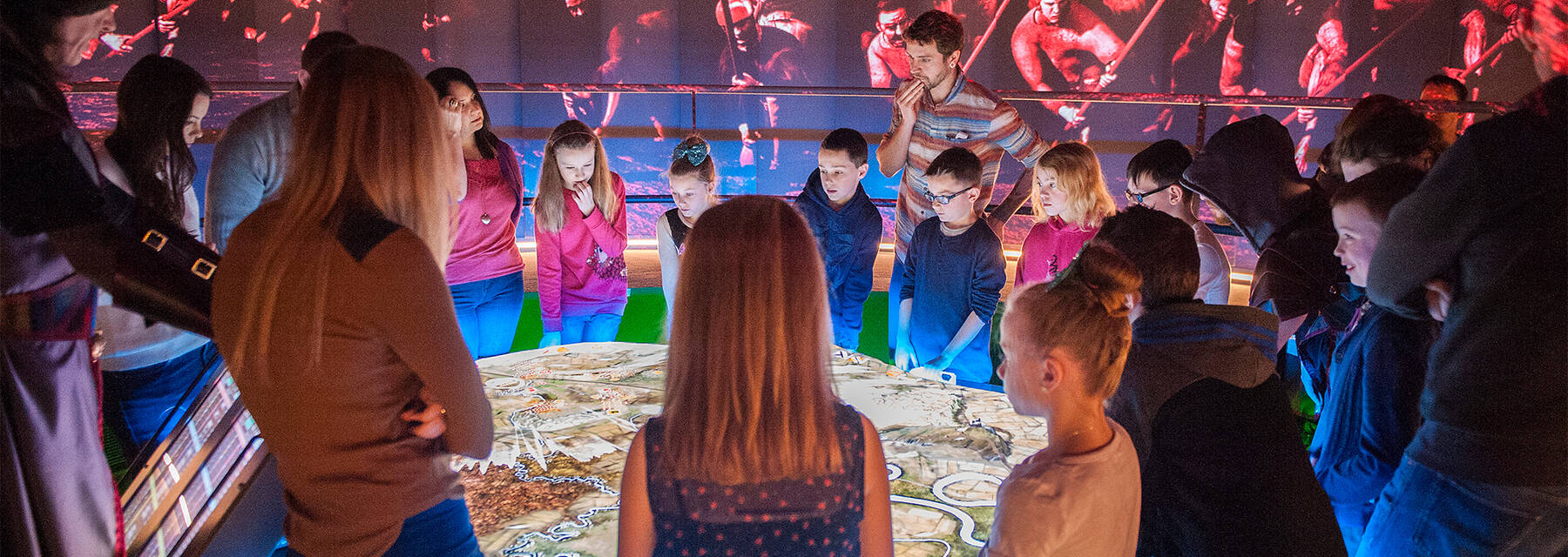 Visitors participating in the Bannockburn Battle Room game