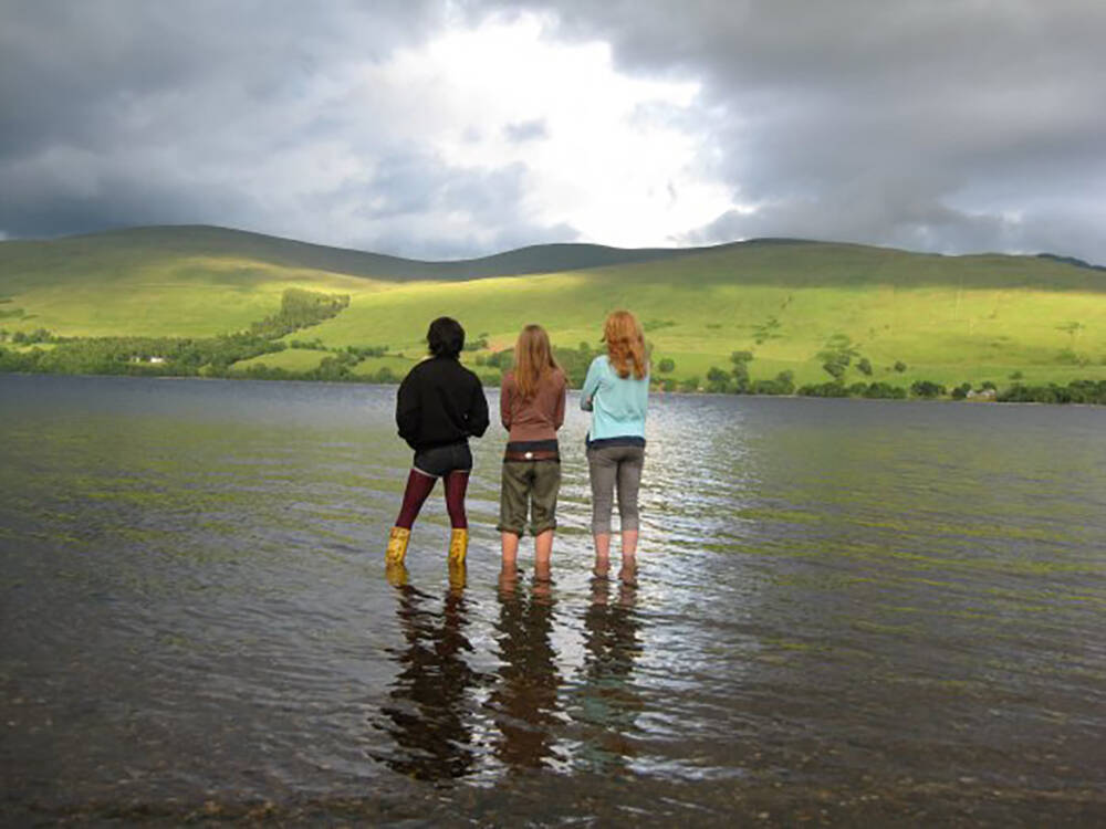 Participants from the Ben Lawers Trailblazer experiencing Loch Tay