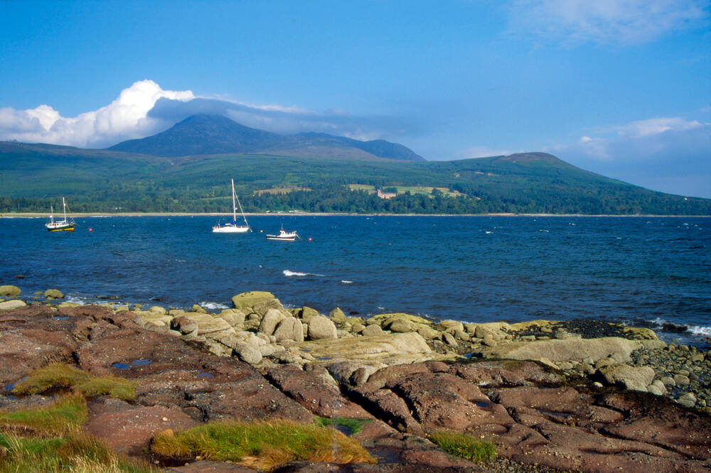 View of Brodick Bay and Goatfell