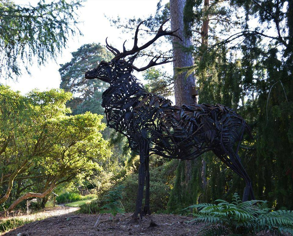 The stag sculpture is inspired by Arran's mythical White Stag.