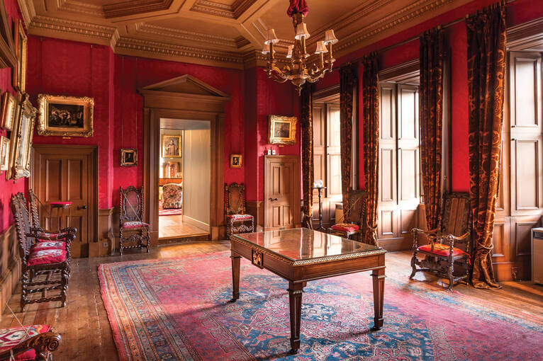 Furniture in Brodie Castle's Red Drawing Room
