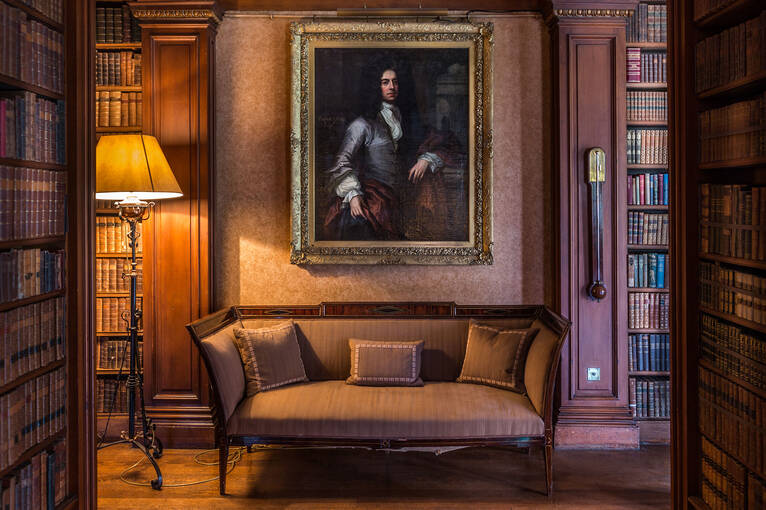 Portrait of David Petty hangs in Brodie Castle library