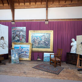 E A Hornel's artwork on display in Broughton House Studio