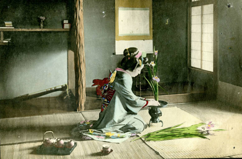 Example of 19th-century Japanese photography found in Broughton House