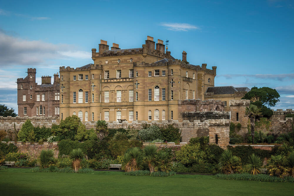 Culzean Castle seen from Fountains Court on a sunny day.