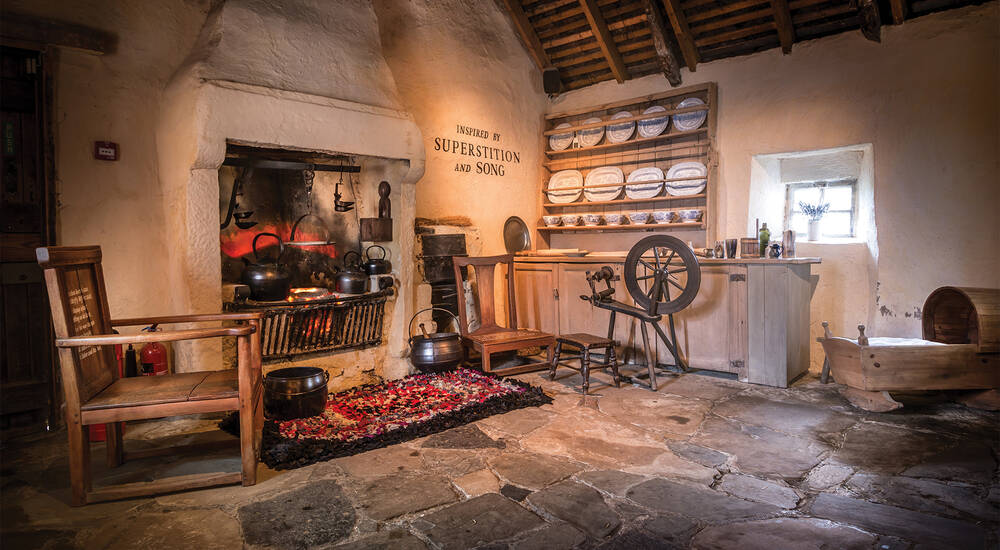 The kitchen of Burns Cottage