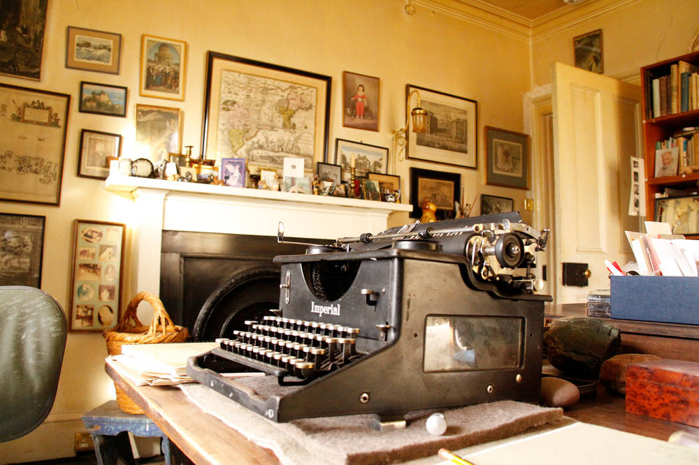 The typewriter on which Compton Mackenzie's novel 'Whisky Galore' was typed, in Margaret Campbell's study.