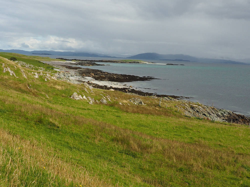 The grassland and beaches of Iona