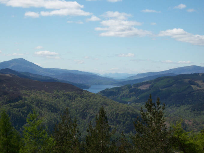 A summer view from Craigower to the west over Loch Tummel and Loch Rannoch