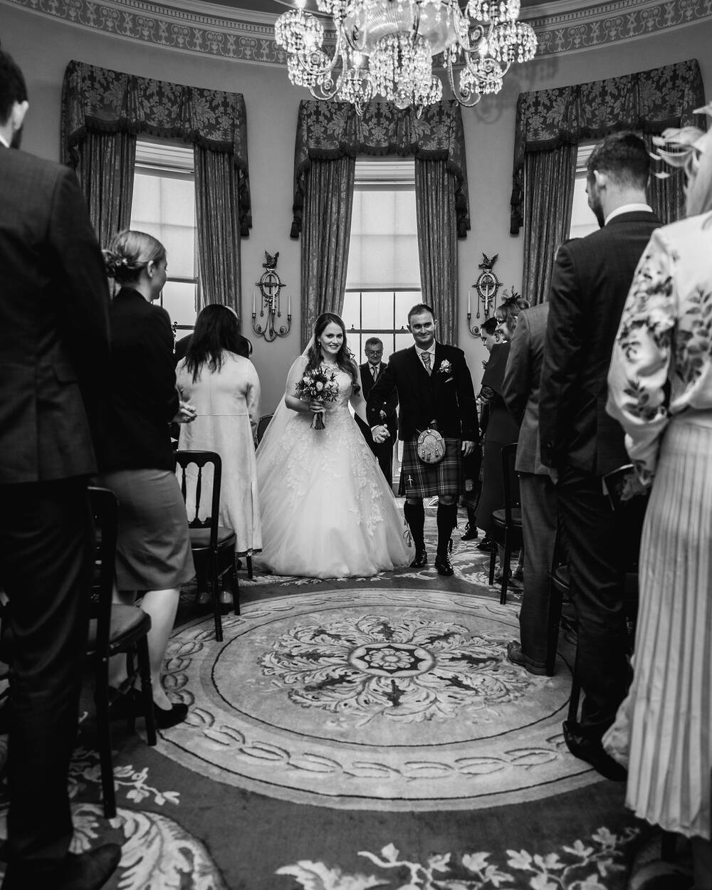 Michael and Louise Morran, married at Culzean Castle & Country Park